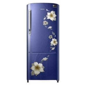 Samsung 192 L 3 Star Direct Cool Single Door Refrigerator(RR20M272ZU2/RR20M172ZU2, Star flower blue)